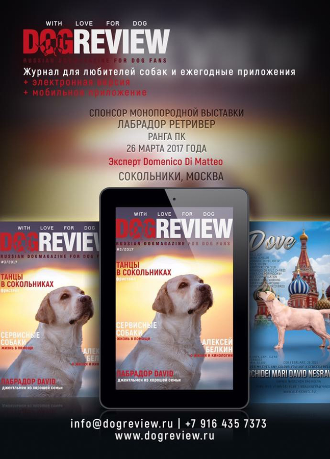 Интервью в журнал Dog Review